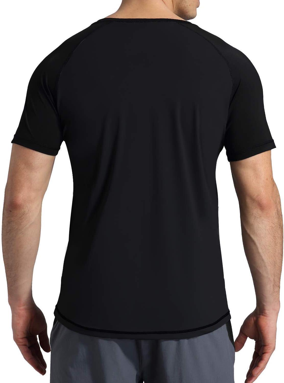 Short Sleeve Swim Shirt VAYAGER Mens Rashguard UPF 50