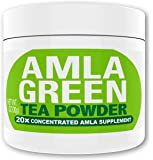 Amla Green Tea Superfood Antioxidant Powder | 20x Amla Concentrate + Dark Green Oolong Tea (Organic Amla, Vegan, Raw, non-GMO, Wild Harvested) (30 doses)