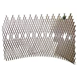 Master Garden Products Peeled Willow Picket Pattern Lattice Trellis Fence, 72 by 48-Inch, Light Mahogany Color by Master Garden Products