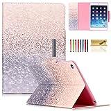 iPad Mini 4 Case, Dteck(TM) PU Leather Smart Stand Cover [Auto Wake/Sleep Function] Magnetic Closure Flip Wallet Case for Apple iPad Mini 4 (2015 Edition), Glitter Beach Sand