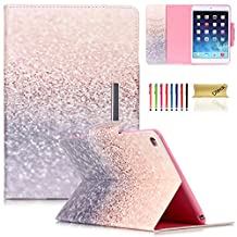 iPad Mini 4 Case, Dteck(TM) PU Leather Smart Stand Cover [Auto Wake/Sleep Function] Magnetic Closure Flip Wallet Case for Apple iPad Mini 4 (2015 Edition), Glitter Beach Sand