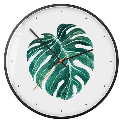 sconto taglia 40 prezzo più basso Forest Green Leaves Wall Clock 14 Pollici Orologi Al Quarzo ...
