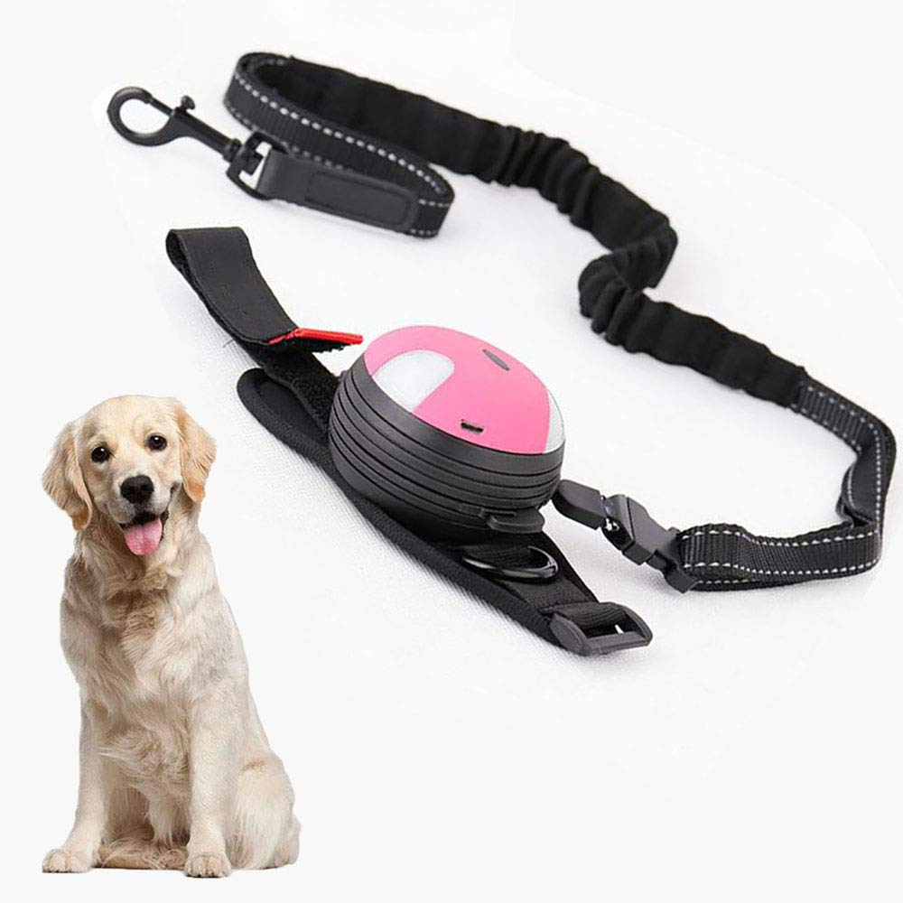 Dog Retractable Leashes, Durable Walking Leash For Medium Large Dogs With Lighting, Tangle Free, 3 m (Pink)