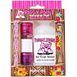 Piggy Paint Non-toxic Nail Polish Gift Set (2 Polishes/1 Remover) Polish Colors May Vary From Picture Based On Availability