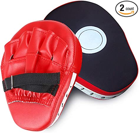2xBoxing Gloves Pad for Taekwondo Thai Boxer Training PU Foam Boxer Target PadDS