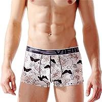 QIYUN.Z Mens Fashion Printed Ice Silk Boxer Briefs Summer