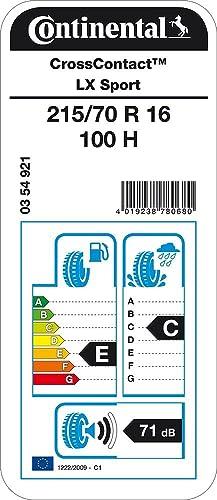 Continental CrossContact LX Sport M+S Neum/ático todas las Estaciones 215//70R16 100H