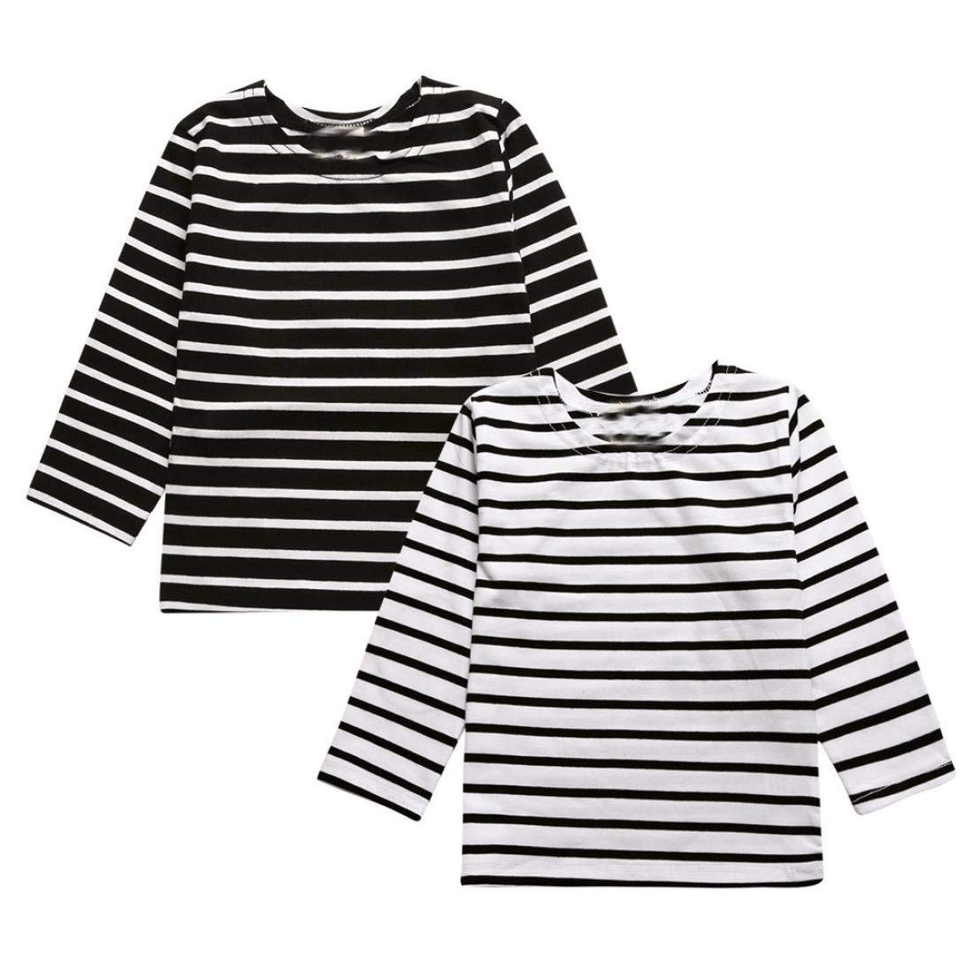 Gotd Infant Toddler Boy Girl Long Sleeve Striated Star T-Shirt Tops Clothes