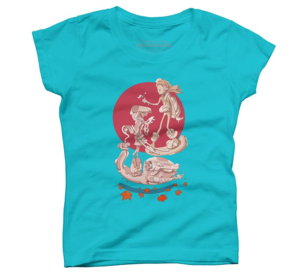 Design By Humans love 2075 Girls Youth Graphic T Shirt