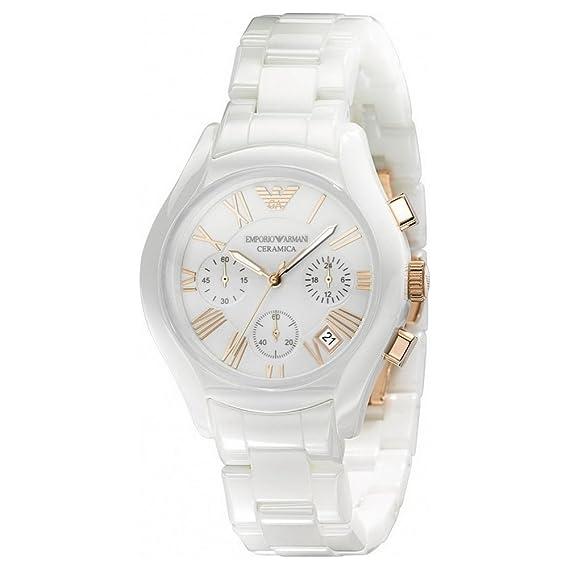 Emporio Armani Women s Ceramica AR1417 White Ceramic Quartz Watch with White  Dial  Emporio Armani  Amazon.ca  Watches 2d5e308f7a