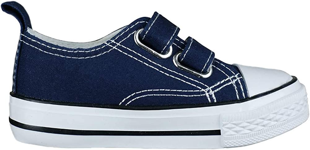 MUYGUAY Toddler Sneakers Boys and Girls Low Top Canvas Shoes with Adjustable Strap Lightweight Casual Shoes for Baby//Toddler//Little Kid