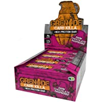 Grenade Carb Killa High Protein and Low Carb Bar, 12 X 60 g - Dark Chocolate Raspberry, 12 Bars