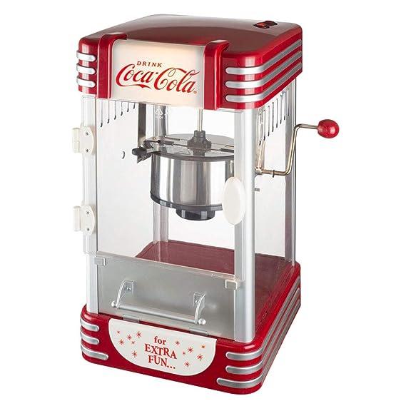 Coca-Cola Coke 38 - 2 C-005 máquina de palomitas de maíz Pop Corn Maker Coca-Cola gris rojo y transparente: Amazon.es: Hogar