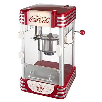 Coca-Cola Coke 38 - 2 C-005 máquina de palomitas de maíz Pop Corn Maker Coca -Cola gris rojo y transparente: Amazon.es: Hogar