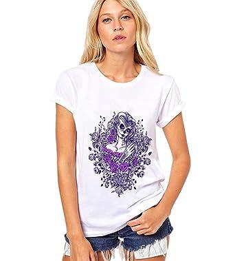 dc9549e17aaa COCO clothing Tops Damen Kurz Ärmel Farbig Print Bluse Sommer Lässige Basic  T-Shirt Chic