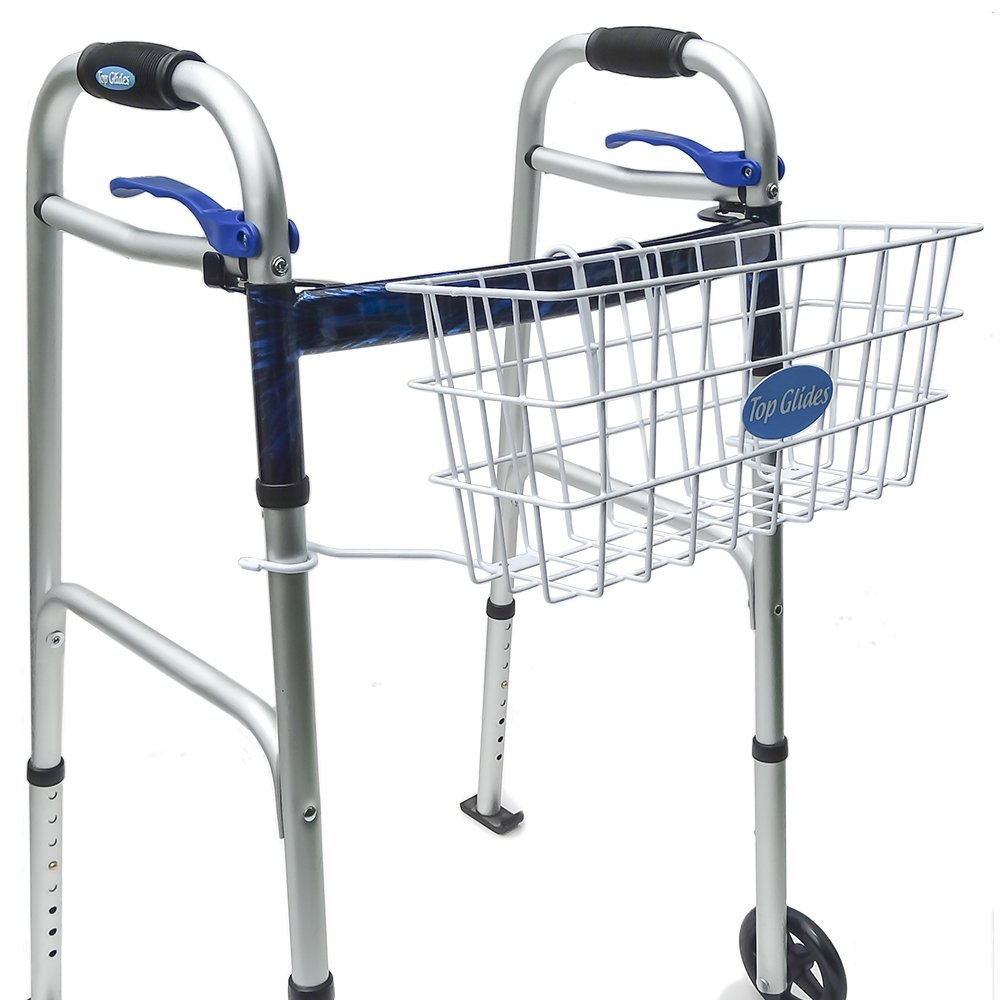 Top Glides Premium Clip-on Walker Basket by Top Glides