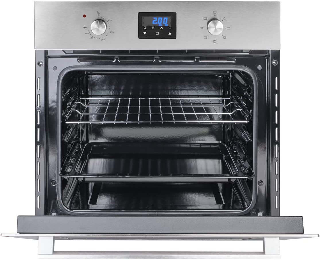"Wall Oven, GASLAND Chef ES609DS 24"" Built-in Single Wall Oven, 9 Cooking Function, Stainless Steel Electric Wall Oven With Cooling Down Fan, 3 Layer Glass, ETL Safety Certified & Easy To Clean"
