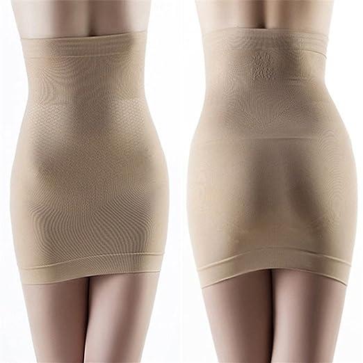 yesiidor Mujer Falda para mujer sin costuras Body Shaper falda ...