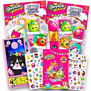 Shopkins Ultimate Coloring and Activity Book Set -- 2 Jumbo Coloring Books with Shopkins Stickers