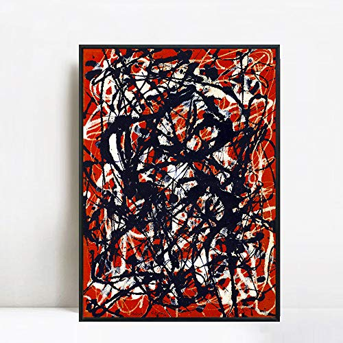 (INVIN ART Framed Canvas Giclee Print Art Free Form by Jackson Pollock Abstract Wall Art (24