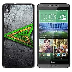 All Phone Most Case / Oferta Especial Duro Teléfono Inteligente PC Cáscara Funda Cubierta de proteccion Caso / Hard Case HTC DESIRE 816 // Green Super Hero Sign