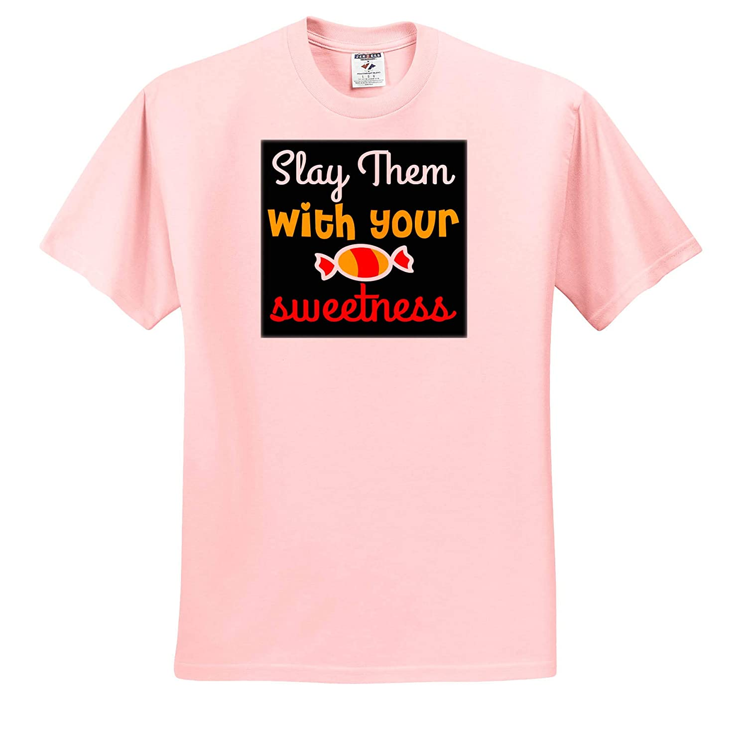 Adult T-Shirt XL 3dRose Anne Marie Baugh Slay Them with Your Sweetness ts/_319309 Quotes and Sayings