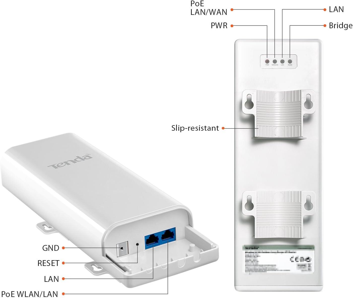 Tenda O3 150Mbit/s Energía sobre Ethernet (PoE) Blanco - Punto de acceso (150 Mbit/s, IEEE 802.11b,IEEE 802.11g,IEEE 802.11n, 2,4 GHz, 15 usuario(s), ...