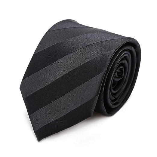 JINGJING Corbata de los Hombres 7 cm de Ancho Formal Color sólido ...