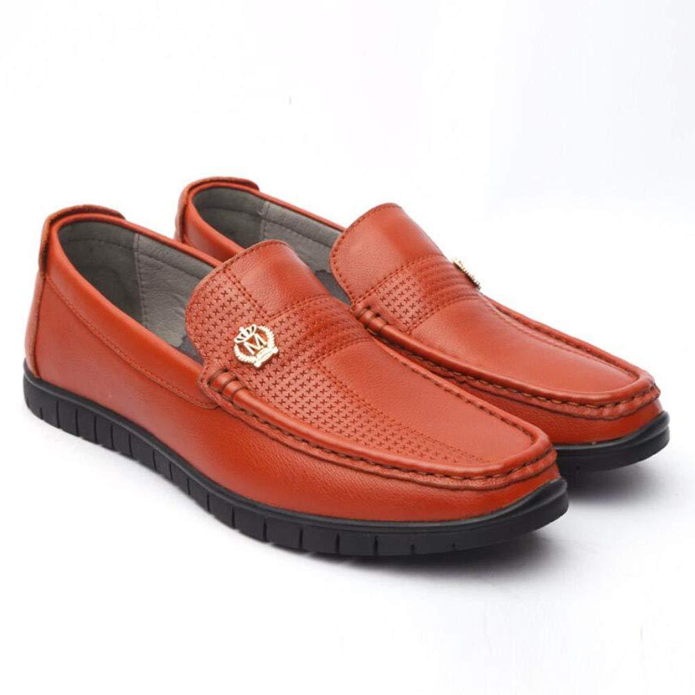 メンズレザーシューズ、春/秋のローファー&スリップオンズピースの靴、足のセットレイジーシューズ/カジュアルシューズ/ウォーキングシューズフォーマルなビジネスワーク (色 : B, サイズ : 41) 41 B B07GB9BNVY