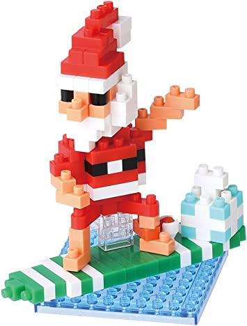 Santa Claus on the Chimney Nanoblock Micro-Sized Building Block Christmas Kawada