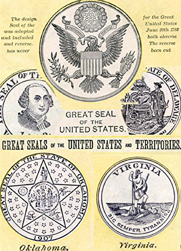 Great seal of  the United States and Territories: Memory of one hundred years ago (Webster's dictionary ,the 1914 ()