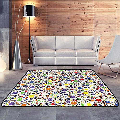 - Silky Smooth Bedroom Mats,Horseshoe,Lucky Charms LadybirdW 71