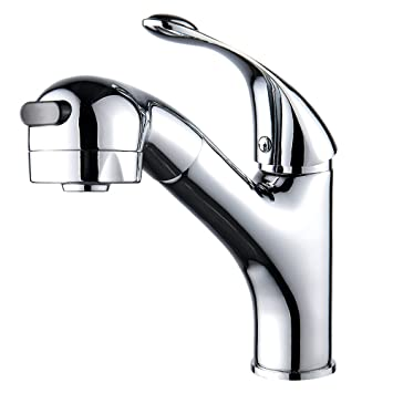 Fannybuy Pull Out Sprayer Kitchen Sink Faucet With Pull Down Sprayer