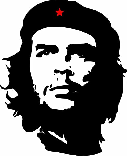 Etaia 12x15 Cm Auto Aufkleber Che Guevara Roter Stern Revolution In Kuba Cuba Sticker Motorrad Caravan Lkw Auto
