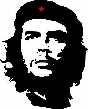 Etaia 6 5x8 Cm Auto Aufkleber Che Guevara Roter Stern Revolution In Kuba Cuba Sticker Motorrad Handy Laptop Bike Auto