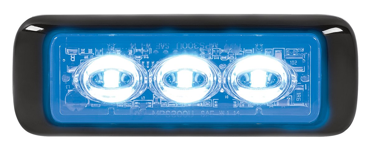 Federal Signal MPS300U-B MicroPulseUltra, Surface Mount, Clear Lens, 3 Blue LEDs
