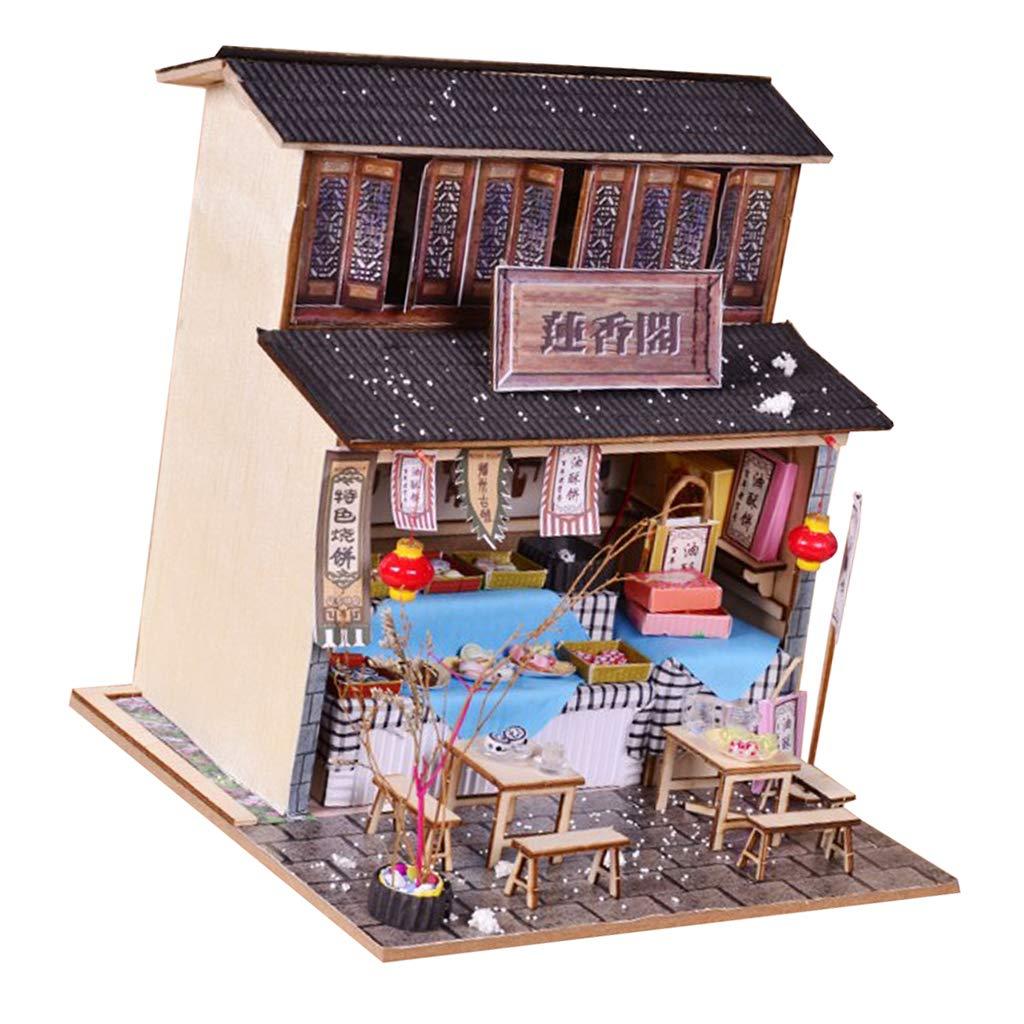 Amazoncom Prettyia Diy Handcraft Miniature Project Wooden Dolls