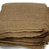 AAYU Brand Premium Burlap Fabric | 40x40 Inch Square | Two Side Locked and Two Raw Edge Burlap Table Topper | Eco-Friendly, Natural, Organic Product,100% Biodegradable