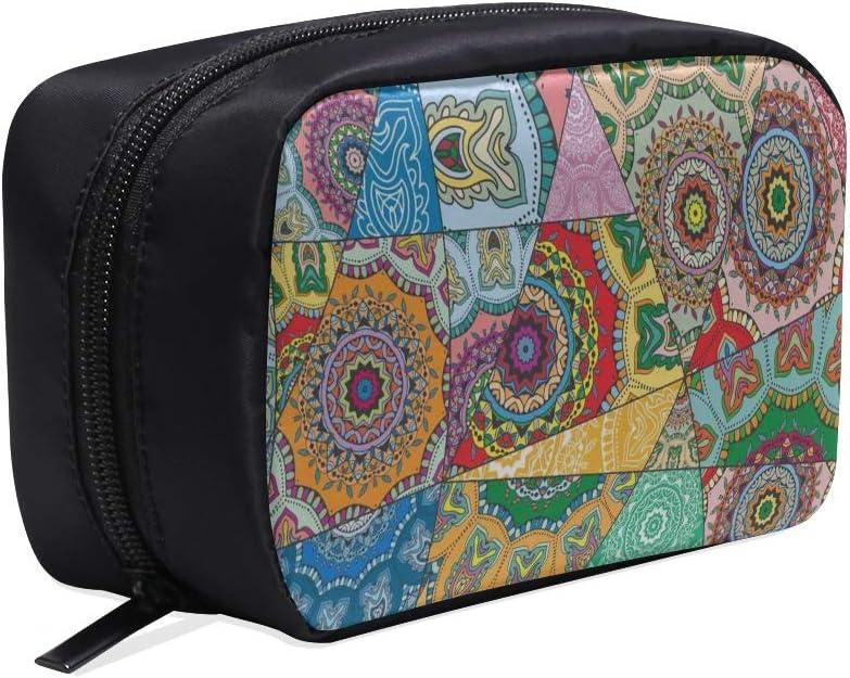 Bolsa de belleza cosmética Nuevo Vintage Patchwork decorativo Hombre Bolsa de viaje pequeña Bolsas de libros de moda para mujeres Bolsa de cosméticos para bebés Bolsas de cosméticos Funda multifuncio