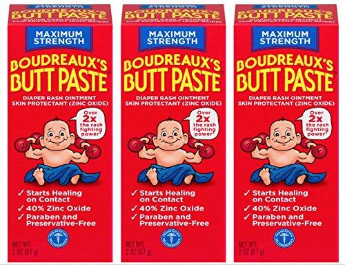 Boudreaux's Butt Paste Diaper Rash Ointment | Maximum Strength | 2 Oz | Pack of 3 ()