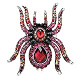 Angel Jewelry Women's Crystal Spider Pin Brooch Pendant Halloween Party Gifts for Women Teen Girls