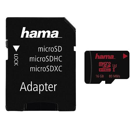 Amazon.com: Hama 16 GB microSDHC tarjeta de memoria Clase 3 ...