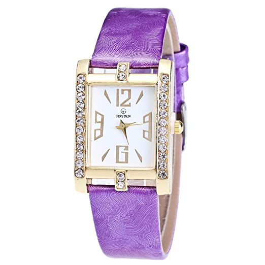 Relojes Pulsera Mujer,Mujer Relojes Moda Reloj de Pulsera de Cuarzo de aleación analógica Retro