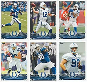 Indianapolis Colts 2013 Topps NFL Football Complete Regular Issue 13 Card Team Set Including Andrew Luck, Reggie Wayne, Vontae Davis, Vick Ballard, Kerwynn Williams, Darius Butler, Robert Mathis, Bjoern Werner, Ty Hilton, Jerrell Freeman, Coby Fleener, Re