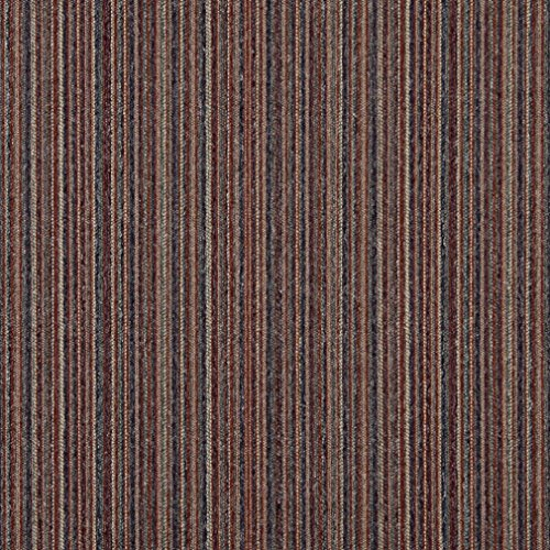 C654 Purple Blue Green Beige and Red Vertical Striped Country Style Upholstery Fabric by The Yard
