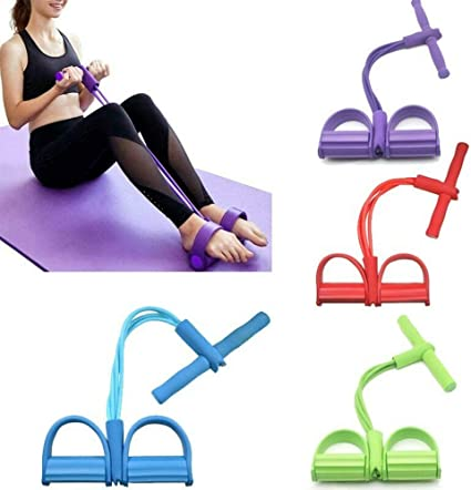 Sit-up Rope Puller Resistance Band Foot Pedal Exerciser Home Gym Yoga Elastic