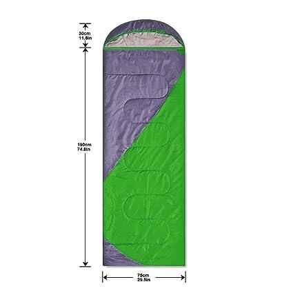 Saco Calentito de Dormir - Gran Confort/Acabado Perfecto/Soporta Húmeda Temperatura Baja (verde): Amazon.es: Deportes y aire libre