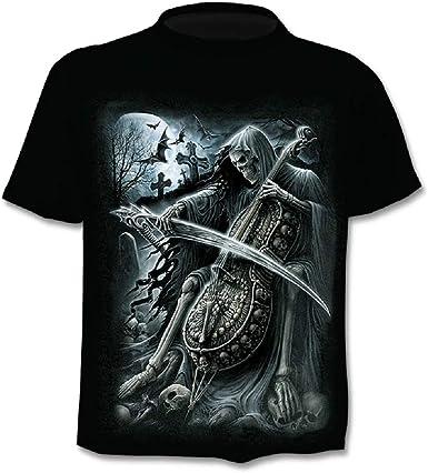 Camiseta Hombre Calavera - gótico - Manga Corta - Divertido ...