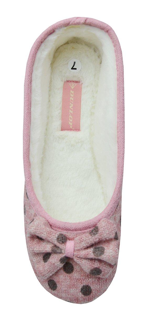 Damen DUNLOP Memory Foam Slipper Pantoffeln - Kekse, 7 UK