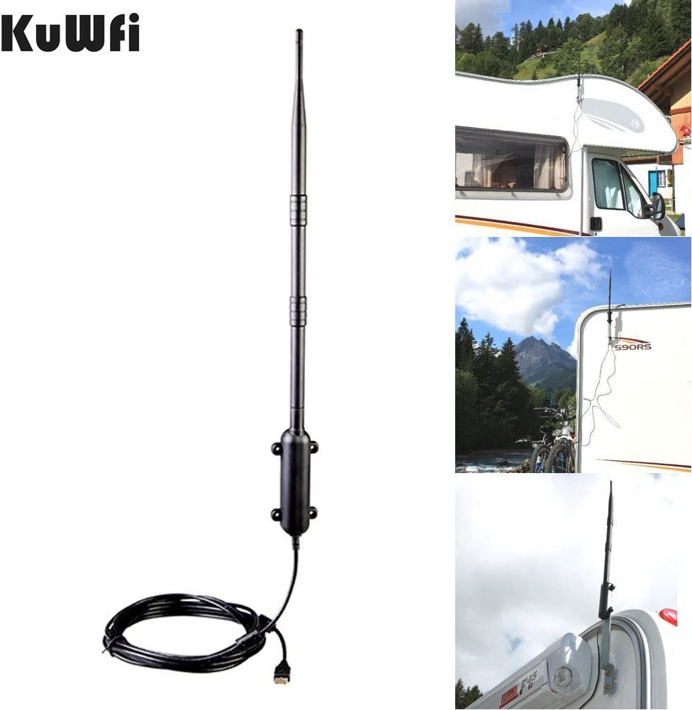 KuWFi 150Mbps Ralink RT3070 Distancia Máxima Al Aire Libre Inalámbrico USB 2.0 Adaptador IEEE802.11b / g / n Antena Inalámbrica De Alto Ganancia Wifi Rocket USB Adaptador Con 9Dbi 5M USB Cable